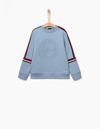 Sweat molleton bleu ciel